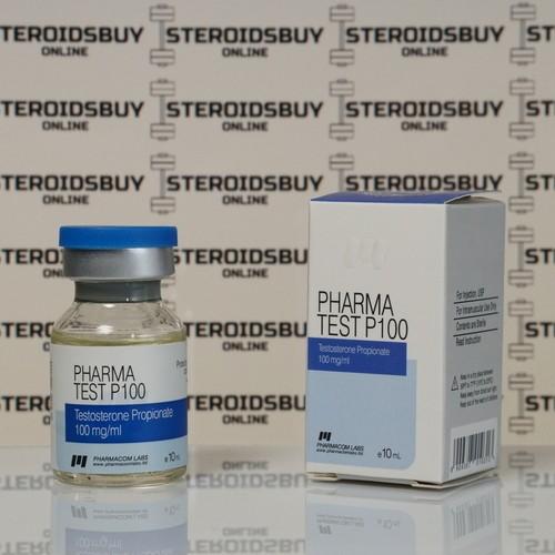 Packaging Pharma Test P 100 mg Pharmacom Labs