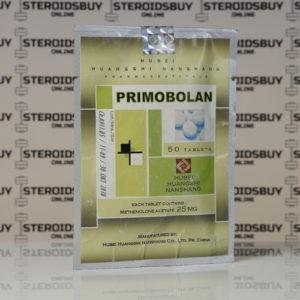 Packaging Primobolan (Methenolone Acetate) 25 mg Hubei Huangshi Nanshang