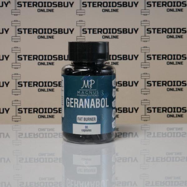 Packaging of Geranabol (90 capsules) Magnus Pharmaceuticals